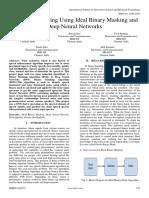 Speech De-Noising Using Ideal Binary Masking and Deep Neural Networks