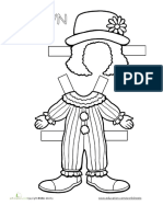 Career Paper Dolls Clown