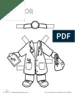 Career Paper Dolls Doctor