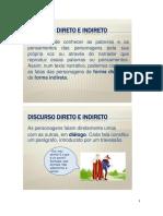 Discurso Direto e Discurso Indireto - Daniel