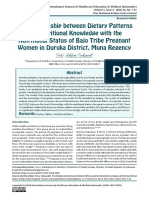 The Relationship between Dietary Patterns and Nutritional Knowledge with the Nutritional Status of Bajo Tribe Pregnant Women in Duruka District, Muna Regency