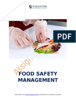 Different Control Methods and Functions for Food Safety Management