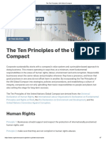 Ten principles of UN Global Compact
