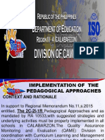 Pedagogical Approaches Pptx