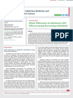 Ethnic Differences in Abstinence Self-Efficacy among Recovering Individuals