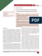 Unrecorded Alcohol Consumption among Alcohol Dependent Patients
