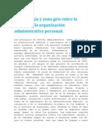 La Patología y Zona Gris Entre La Amistad y La Organización Administrativa Personal