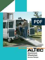 Altec Catalogue Wheelchair Access Ramps