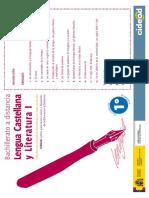 Lengua Castellana y Literatura 1o Bachillerato a Distancia 2008 CIDEAD