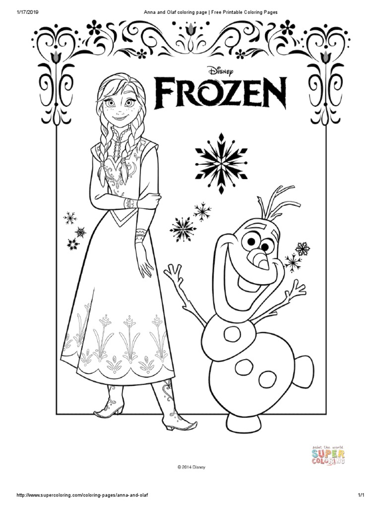 Frozen Coloring Book 1 To 12 Pages Pdf Disney Franchises Musical Theatre Characters