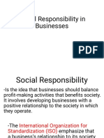Social Responsibility in Businesses