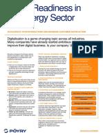 Digital Readiness in the Energy Sector Infosheet