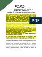 Foro - Matematica Financiera - Ula