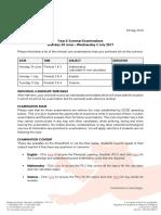 2019-05-23 Year 8 Summer Examinations