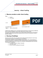 Unreinforced Masonry – Shear Loading