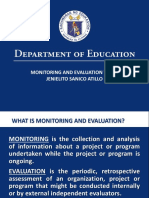 Monitoring and Evaluation Sir Dong