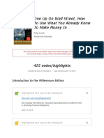 Notes from %22One Up On Wall Street, How To Use What You Already Know To Make Money In%22.pdf