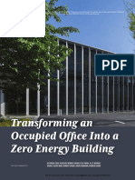Transforming an Occupied Office Into a Zero Energy Building
