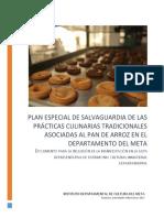 Plan Especial de Salvaguardia de las Prácticas Culinarias Asociadas al Pan de Arroz en el Departamento del Meta