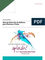 Guía de Selección de Aditivos Para Pinturas y Tintas.