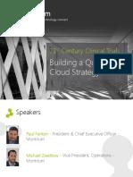 Building a Qualified Cloud Strategy (Webinar Slides)