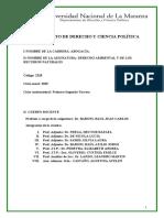 Derecho Ambiental programa 2019