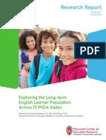 WIDA Report Long Term English Learner Population