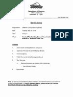 Jefferson County Planning Board agenda May 28, 2019