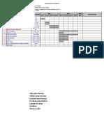 Cronograma de Trabajo Proyecto Implementacion de Aulas CEDHI 2