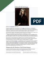 Fundamentos Teóricos de Las Leyes Newton