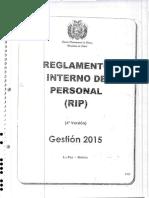 Reglamento Interno de Personal