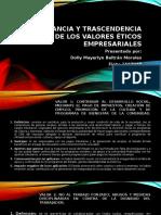 IMPORTANCIA Y TRASCENDENCIA DE LOS VALORES ÉTICOS EMPRESARIALES.pptx