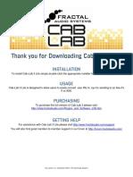 Cab Lab 3 Lite Manual