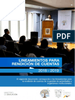Lineamientos Informe Gestion 2019