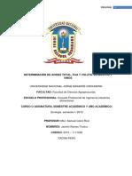 Acidez Total, Fija y Volatil en Mostos y Vinos