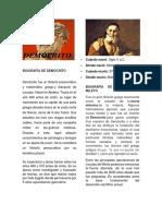 Biografía de Demócrito y Leucico
