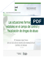 Las actuaciones farmacéuticas estatales en el campo del control y fiscalización de drogas de abuso