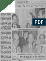 Almuerzo Mensual de Consecomercio - El Nacional 04.10.1987