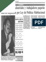 Comerciantes, Industriales y Trabajadores Pagaran Nuevos Impuestos Por Ley de Politica Habitacional - El Nuevo Pais 11.09.1989