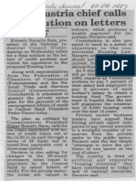 Conindustria Chief Calls for Solution on Letters - The Daily Journal 07.09.1989