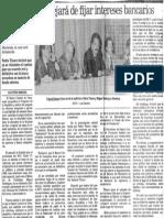 Edgard Romero Nava - Banco Central Dejara de Fijar Intereses Bancarios - Agustin Beroes 1989