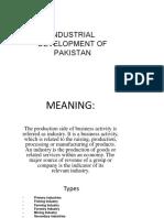 Indestrial development of pakistan