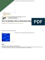 Efte, Un Material Para La Envolvente Arquitectonica _ Publicaciones Digitales Técnicas