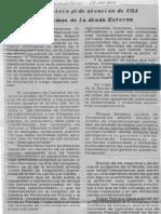 Edgard Romero Nava - Consecomercio Pide Atencion de USA a Problemas de La Deuda Externa - Diario Metropolitano 17.09.1989