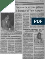 Edgard Romero Nava - Empresas de Servicios Publicos No Deben Pagar El Impuesto Al Valor Agregado - El Nuevo Pais 11.10.1989