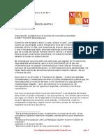 Carta Abierta a La Corte Constitucional Colombiana Manuel Velandia