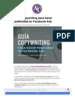 Nuriacamaras Com Guia Copywriting Publicidad Facebook Ads