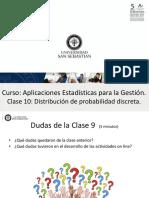 Clase 10 Distribucion Probabilidad Discreta