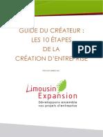 Les 10 Etapes Creation Entreprise 1