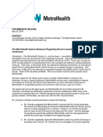 MetroHealth statement 5/23/19